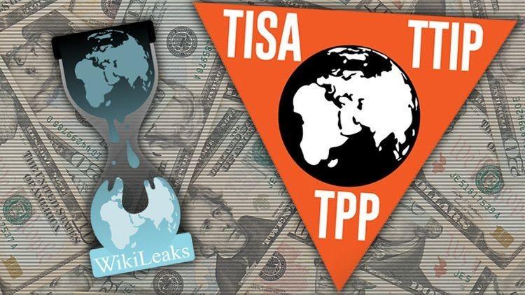 """Una nueva filtración de WikiLeaks confirma que el TPP es una """"película de terror"""""""