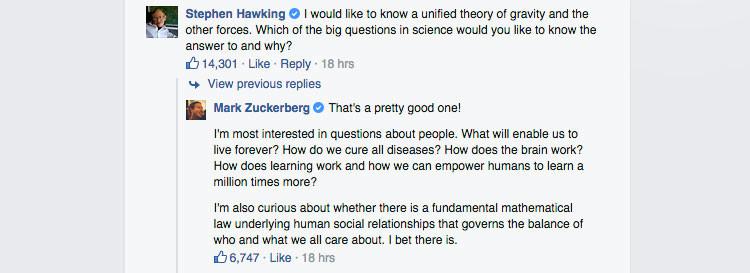 Howking a Zuckerberg