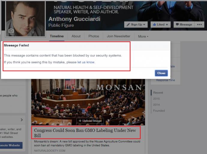 Denuncian que Facebook censura un artículo