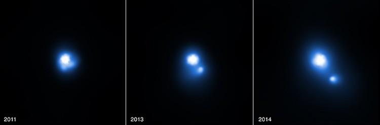 Un púlsar dispara con un fragmento del disco estrellar