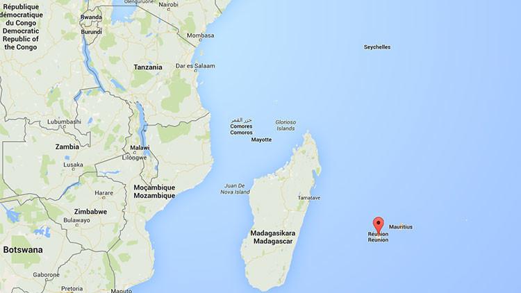 Mapa de la posible ubicación del MH370