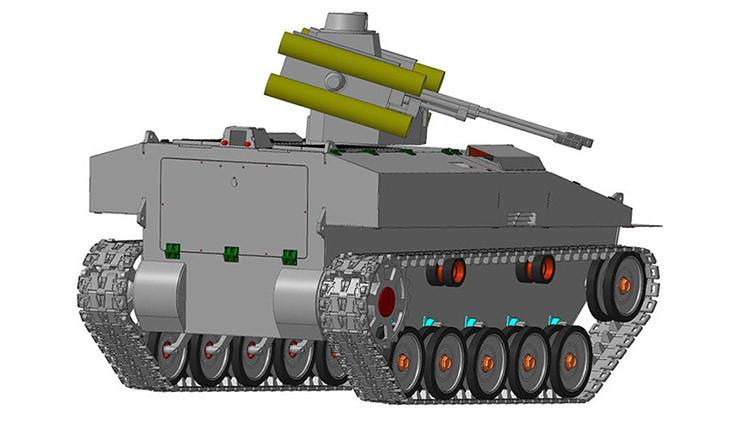 Rusia desarrolla una plataforma robótica blindad universal de 7 toneladas