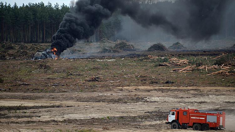 Video: Un piloto ruso sale con vida del accidentado helicóptero Mi-28 en llamas