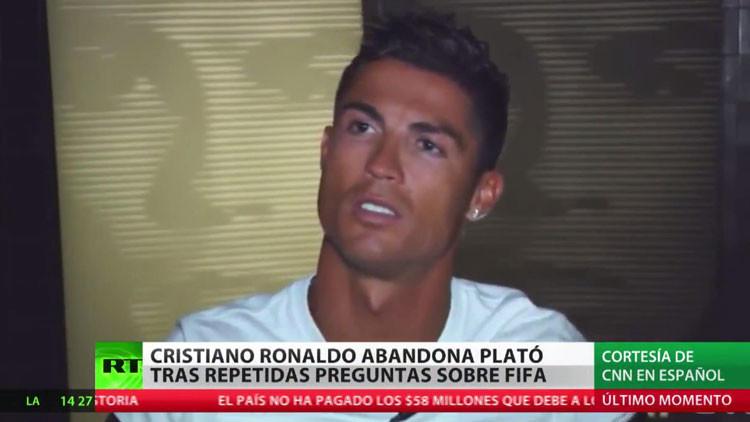Cristiano Ronaldo abandona entrevista por interminables preguntas sobre corrupción en la FIFA
