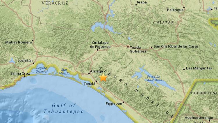 Un fuerte terremoto de magnitud 5,7 sacude Chiapas, México
