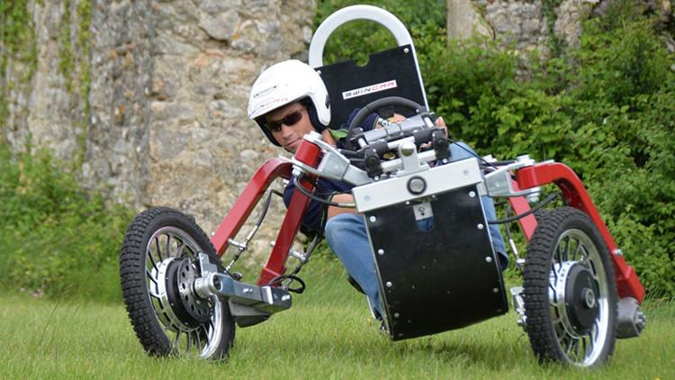 El nuevo 'coche-araña' de fabricación francesa, capaz de surcar cualquier relieve (video)