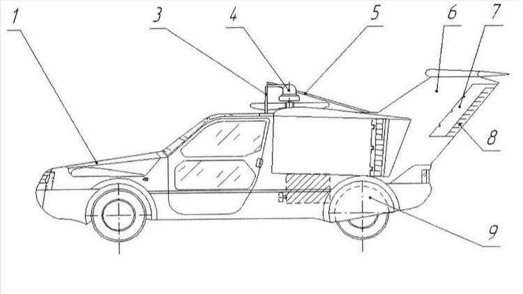 Así será el fantástico coche cuadricóptero ideado en Rusia (Foto)