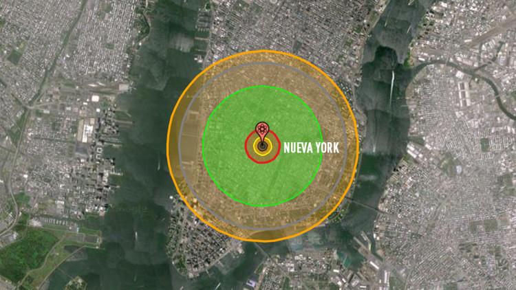 Simulación: ¿Y si las bombas atómicas hubieran caído sobre su cuidad?
