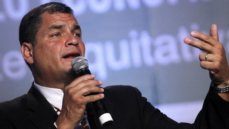"""Rafael Correa: """"Gobiernos latinoamericanos de izquierda hacen frente a una nueva Guerra Fría"""""""