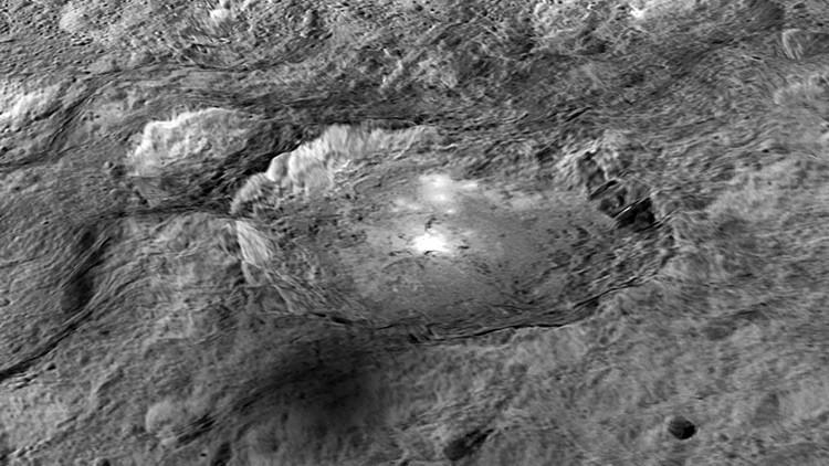 Revelan que los misteriosos puntos brillantes de Ceres no son de hielo