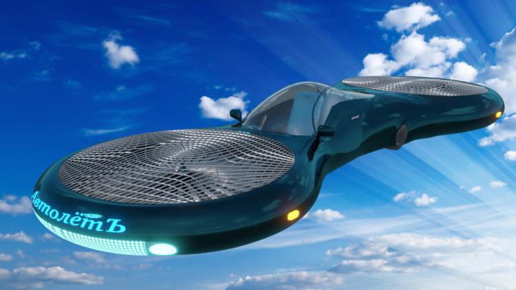 Un colegial de Moscú inventa el Autoliot, un vehículo híbrido con ruedas y hélices