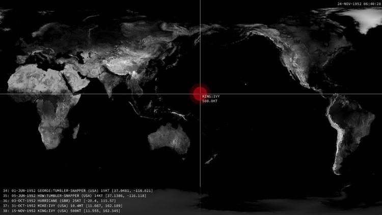 De Hiroshima al presente: Impactante video engloba todas las detonaciones nucleares de la historia