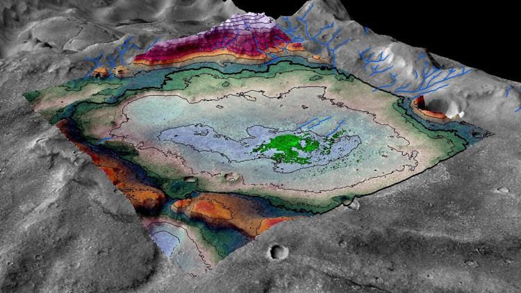 Científicos estadounidenses hallan el que podría haber sido el último lago habitable de Marte