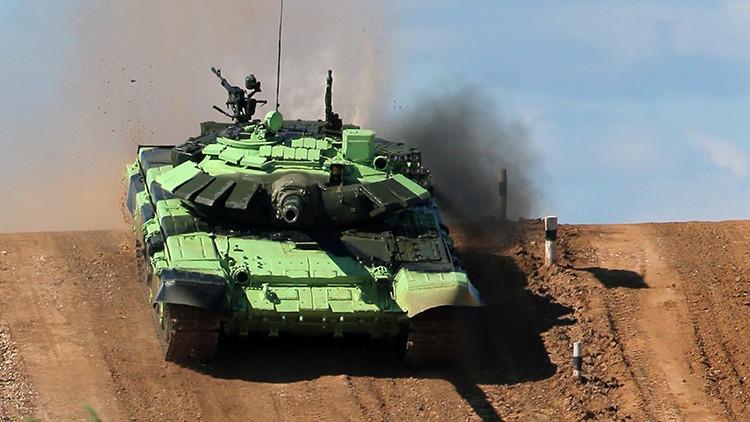 Ocho países miden su fuerza militar en la semifinal de Biatlón de tanques en Rusia