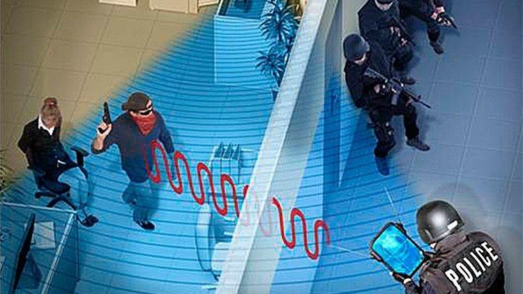 Detectar a la gente en movimiento detrás de muros