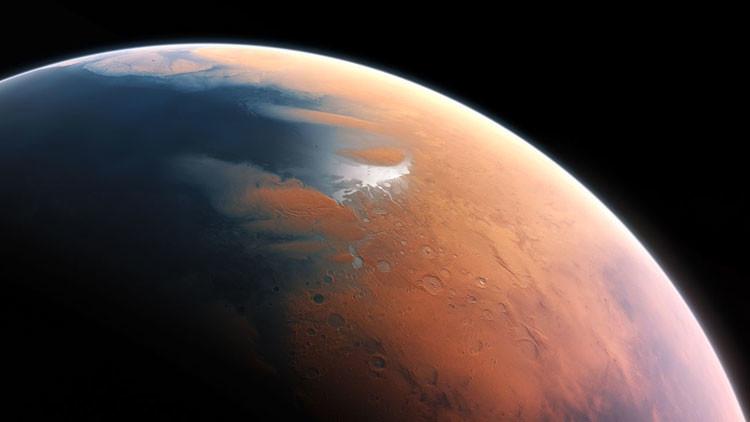 Descubren un lago seco en Marte que podría ser una 'fuente' de vida