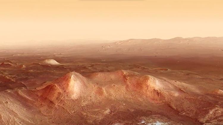 Video: Disfrute de una impactante simulación de vuelo sobre la escarpada superficie de Marte
