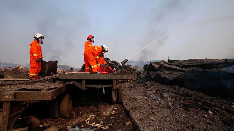 China: Se registra una nueva explosión en el puerto de Tianjín