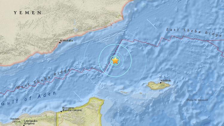Terremoto de magnitud 5,7 sacude Yemen