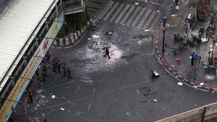 FUERTES IMÁGENES: Sale a la luz nueva grabación de la primera explosión en Bangkok