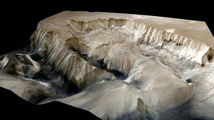 Mars Orbiter Mission de India capta una imagen del cañón más grande del Sistema Solar
