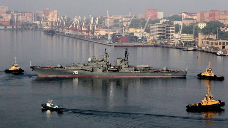 Buques chinos en Vladivostok dan inicio a un ejercicio naval conjunto con Rusia