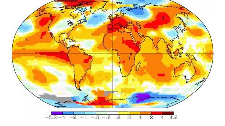 NASA: La Tierra ha alcanzado su récord de temperatura máxima