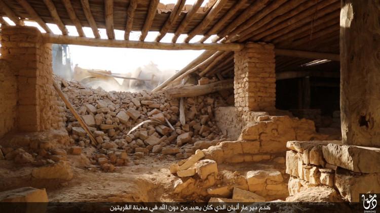 El EI destruye con excavadoras un monasterio católico de 1.500 años de edad en Siria