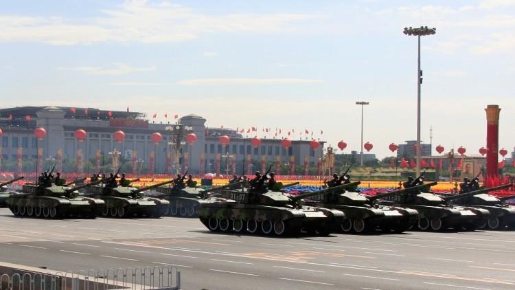 Una escena del desfile militar del 2009 en la plaza Tiananmén de Pekín