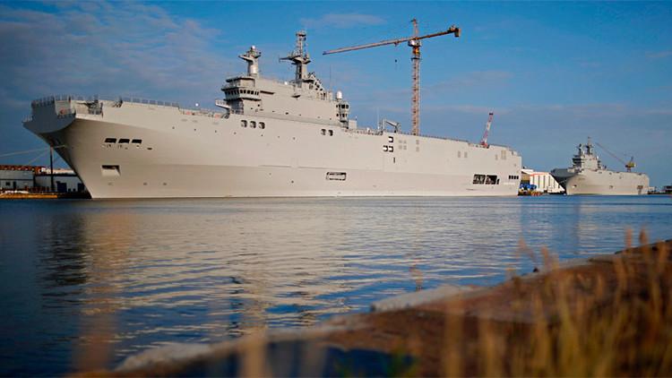 Francia paga a Rusia 900 millones de euros por no entregarle los buques Mistral