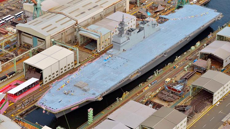 ¿Renace el militarismo japonés? Tokio presenta un nuevo portahelicópteros