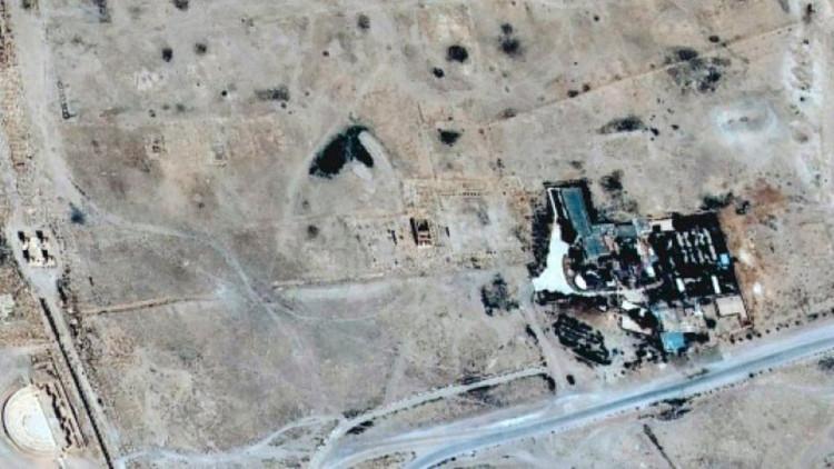 Borrado de la faz de la Tierra: Imágenes satelitales muestran la destrucción del templo de Palmira