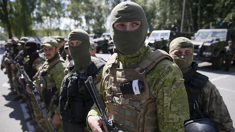 Extranjeros que luchan del lado de Kiev en Donbass se rebelan y exigen la ciudadanía