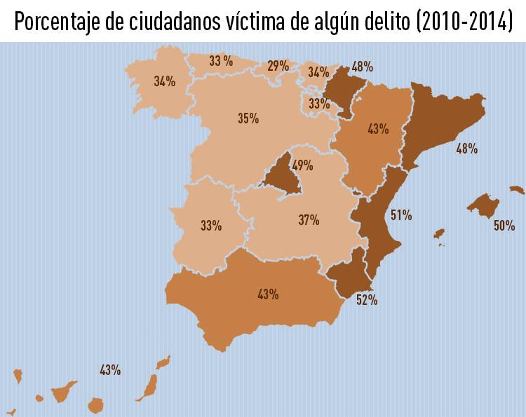 ¿Qué ciudades de España son más y menos seguras?