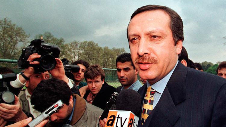 Erdogan cuando era joven