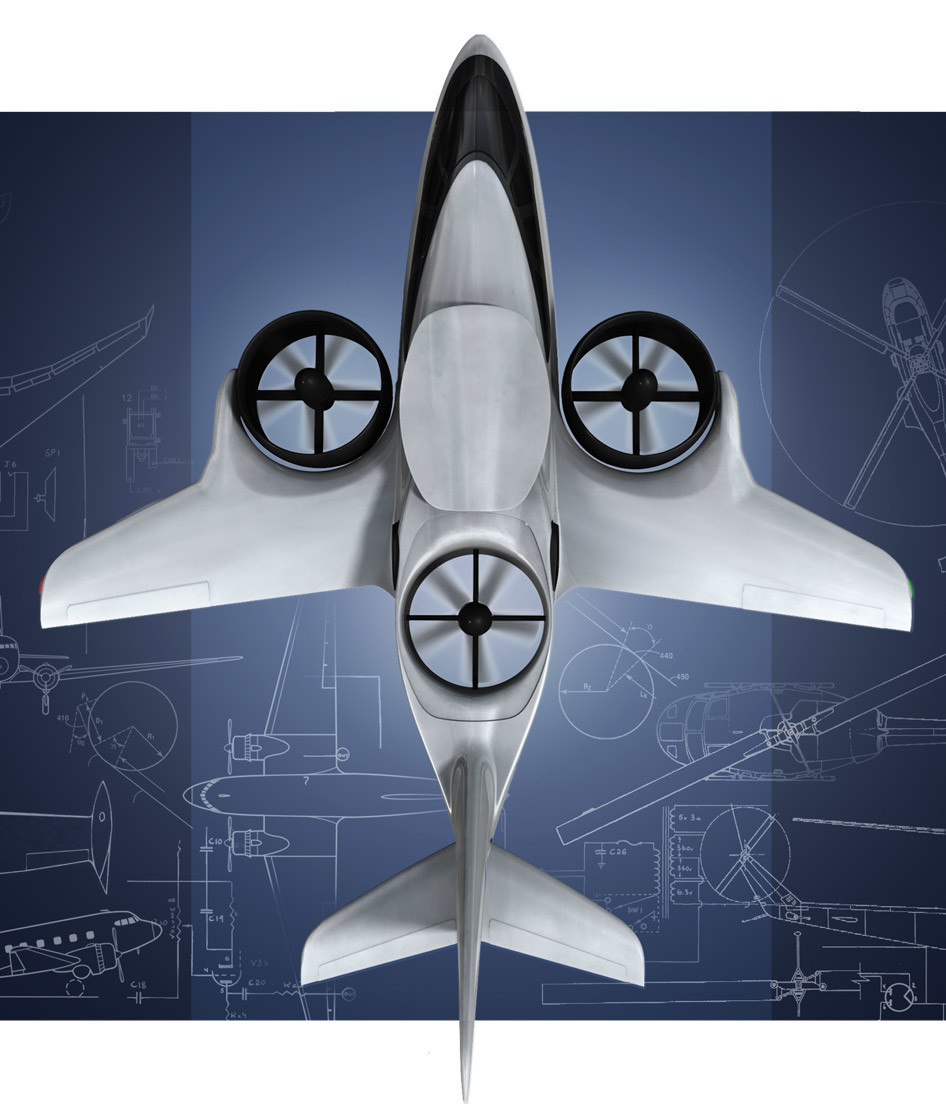 Diseñan un avión con seis plazas que despega y aterriza como un helicóptero