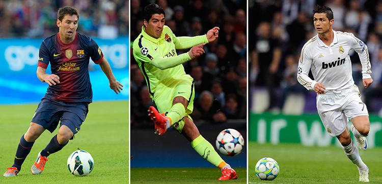 Messi, Ronaldo y Suárez