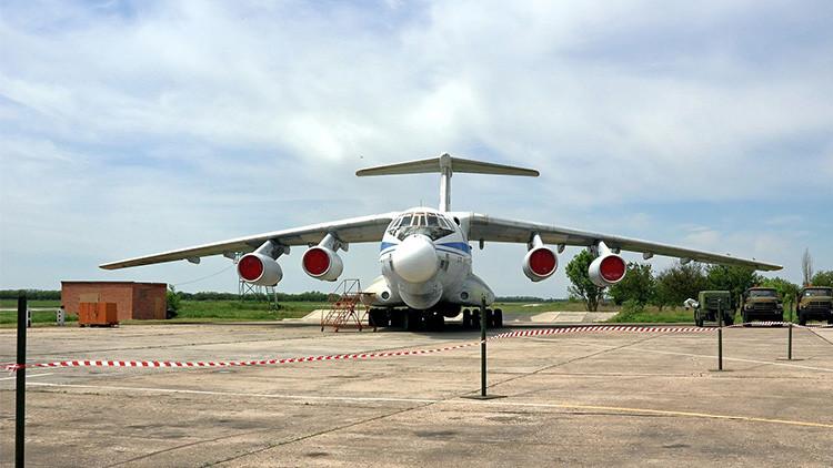 El avión laboratorio Beriev A-60 con un láser instalado