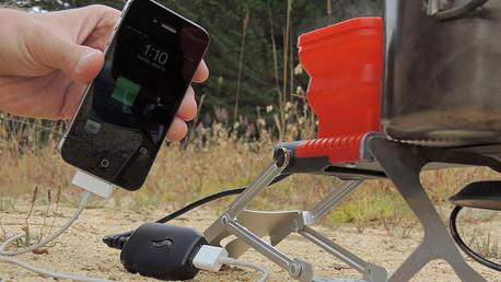 ¿No hay electricidad? Cargue su móvil con agua y fuego (video)