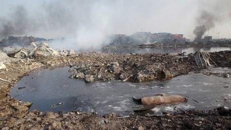 Una rara lluvia con espuma cae en Tianjin tras el desastre en un almacén químico (fotos)