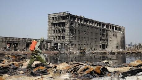 Explosiones en China: Imágenes apocalípticas a vista de dron desde Tianjín