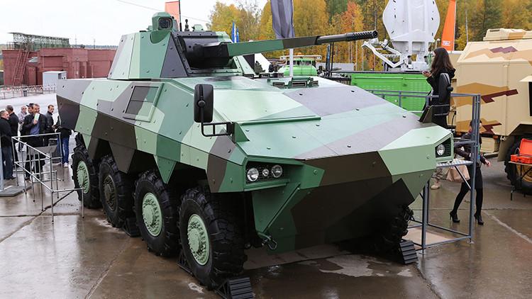 El fabricante de Armata presenta un temible vehículo blindado