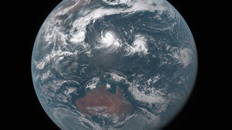 Satélite japonés revela impresionantes imágenes del poder brutal de las tormentas (Video)