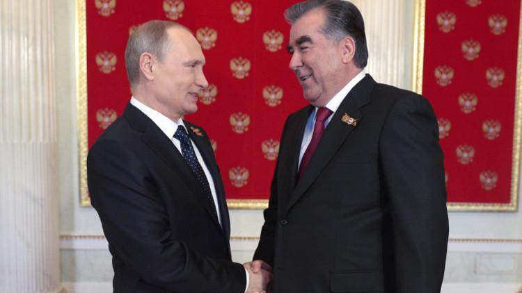 """Putin y Rajmón: """"Los ataques de Dusambé son un intento de desestabilización"""""""