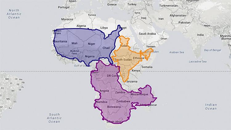 Mapa interactivo: ¿Cuál es el tamaño real de su país?