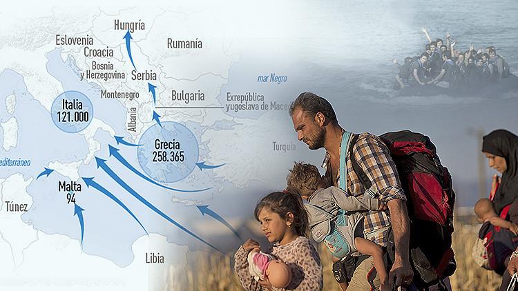 Infografías: Las impactantes cifras del desventurado flujo migratorio a Europa