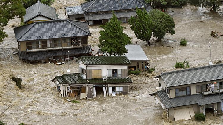 Video: la tormenta tropical Etau causa unas inundaciones devastadoras en Japón