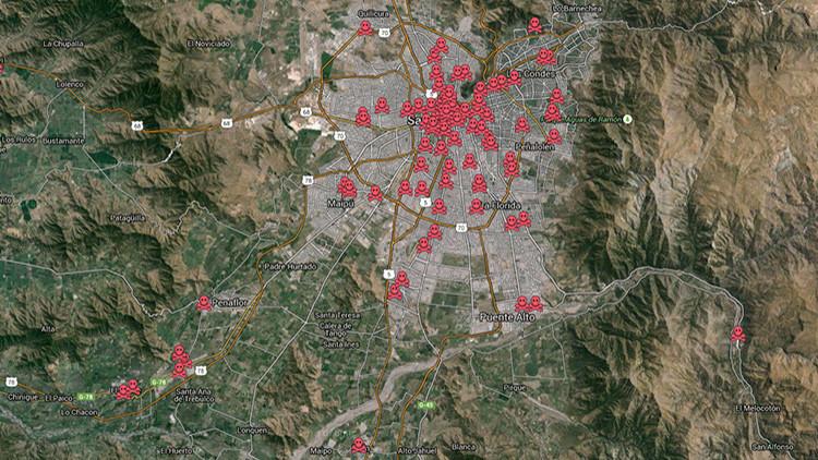 El mapa del horror: Vea todos los puntos de tortura que la dictadura de Pinochet mantuvo en Santiago