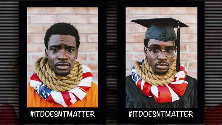 Fotos: La campaña 'sin palabras' contra el racismo de un artista afroamericano