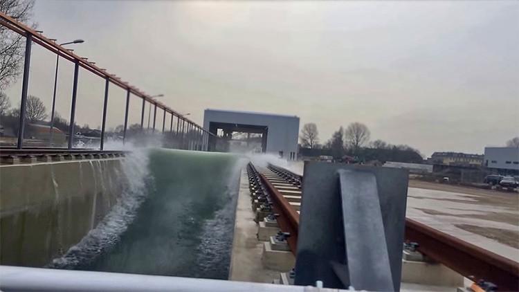 Los Países Bajos inventan la mayor máquina de 'hacer' tsunamis para salvar al país de inundaciones